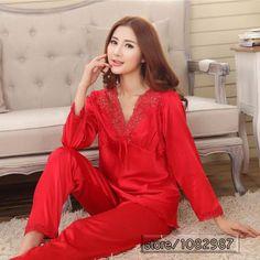 c4ef8fd46d Chinese Silk Pajamas Sets