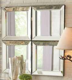 These Beveled Glass Mirrors will create the illusion of space and light in any space.