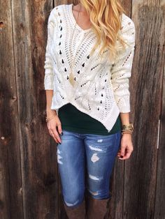 b54dbb2472 Angle Cropped Sweater love this sweater Lola Jeannine