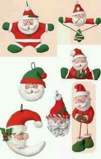 Diferentes Papás Noel.