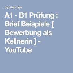 a1 b1 prfung brief beispiele bewerbung als kellnerin youtube - Brief Schreiben Beispiel B1