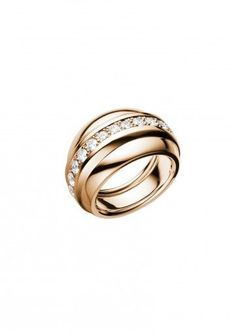 chopard ring la strada ring rose gold and diamonds