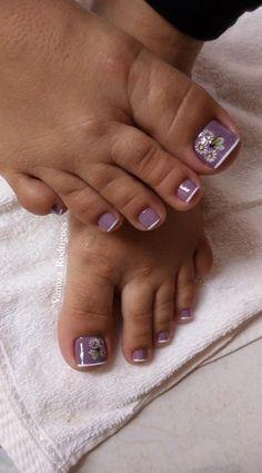 26 Ideias de Unhas Decoradas dos Pés Toenail Art Designs, Manicure Nail Designs, Toe Designs, Flower Nail Designs, Blue Nail Designs, French Pedicure, Pedicure Nail Art, Toe Nail Art, Manicure And Pedicure