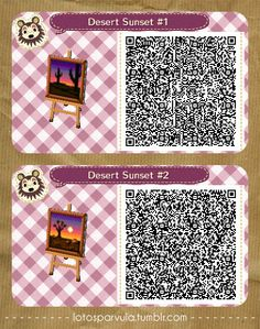 Desert Sunsets- AC New Leaf QR Codes