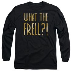 FARSCAPE/WHAT THE FRELL - L/S ADULT 18/1 - BLACK -