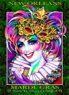 Andrea Mistretta Mardi Gras Poster 2009