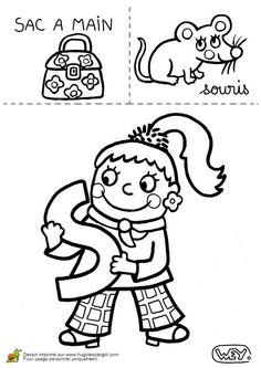 Apprendre l'alphabet en coloriant les dessins d'une jolie