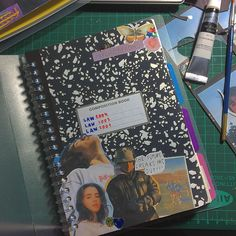 Bullet Journal Cover Ideas, Bullet Journal Aesthetic, Bullet Journal Writing, Bullet Journal Inspo, Journal Covers, Collage Book, Scrap Books, Cool Journals, Magazine Collage