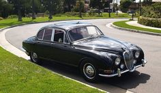 Lovely auto.1965 Jaguar S-type. If you are interested, it is for sale. Owned by Dita Von Teese  No reserve auction ends May 16.