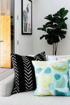 A contemporary home with hits of colour
