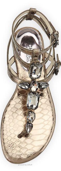 Michael Kors Jayden Jeweled Sandal  | LOLO❤︎