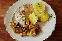 Kräuter-Putenbraten mit Rahmpilzen (Rezept mit Bild)   Chefkoch.de