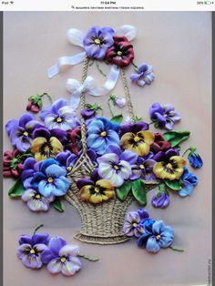 Wonderful Ribbon Embroidery Flowers by Hand Ideas. Enchanting Ribbon Embroidery Flowers by Hand Ideas. Ribbon Embroidery Tutorial, Silk Ribbon Embroidery, Embroidery Stitches, Embroidery Patterns, Wedding Embroidery, Embroidery Alphabet, Simple Embroidery, Embroidery Techniques, Hand Embroidery