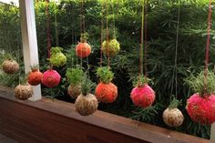Team K'Mich on new: The Macrame look. Instead of your typical centerpieces, use Yarn ball hanging plants. These would be great for reception, or any type of event. Match this with your ring pillow.