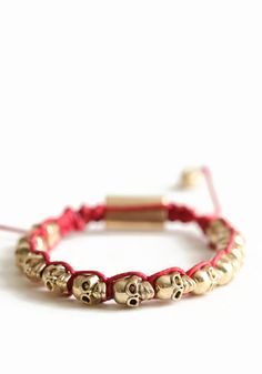 Skull Candy Bracelet - $16.00 : ThreadSence.com, Your Spot For Indie Clothing & Indie Urban Culture ($1-20) - Svpply