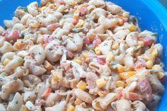 Knackiger Nudelsalat ohne Fleisch
