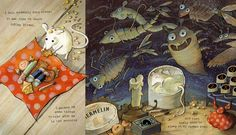 Spread from 'Hermelin: The Detective Mouse' by Mini Grey