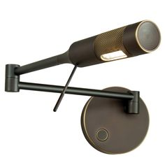 Cleo Right Swing Arm Wall Light | Holtkoetter at Lightology