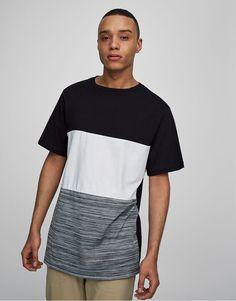 Textured bands t-shirt - T-shirts - Clothing - Man - PULL&BEAR United Kingdom