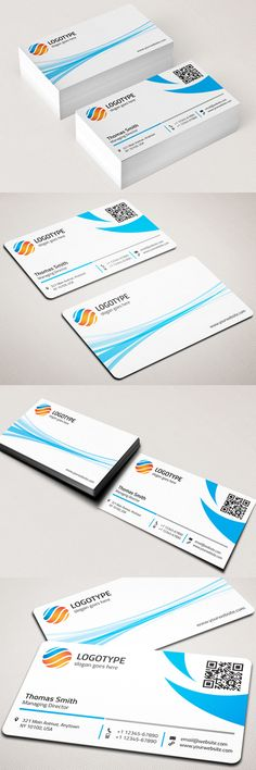 Round Corner Corporate Business Card  #businesscards #businesscardstemplates #templates