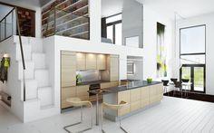 Puupinnat pehmentävät kodin yleisilmettä. A la Carte -keittiöt, Moderato. | #keittiö #kitchen