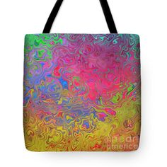 Psychedelic Laundry - 5000 X 5000 Abstract Tote Bag by Shelly Weingart