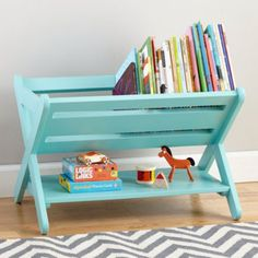 Buy A Folding Dish Rack And Turn It Into A Book Caddy! works great for kids bedroom, nursery decor, or playroom decor Kids Bookcase, Childrens Bookcase, Baby Bookshelf, Toddler Bookcase, Bookshelf Ideas, Simple Bookshelf, Ladder Bookshelf, Small Bookcase, Bookshelf Storage