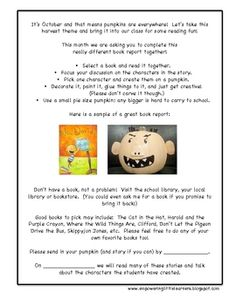 We have all seen those cute pumpkins that match our favorite characters in stories.  Why not have our students create these adorable pumpkins a...