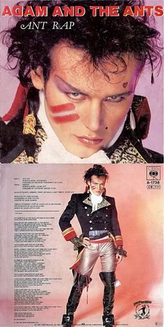 """Ant Rap"" vinyl single by Adam and The Ants New Wave Music, Good Music, Couple Halloween Costumes, Woman Costumes, Pirate Costumes, Group Costumes, Adult Costumes, Ant Music, Adam Ant"