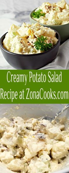 This Creamy Potato Salad is loaded with bacon, tender potatoes, egg, diced pickle, onion, and celery smothered in a simple dressing of mayo, seasoned salt, and pepper. This small batch recipe makes a great side dish for two people any time of the year. #potatosalad #potatoes #sidedish #RecipesForTwo #smallbatch Vitamix Recipes, Cooking Recipes, Side Dish Recipes, Side Dishes, Creamy Potato Salad, Seasoned Salt, Pickled Onions, Cooking For One, Chicken Pasta