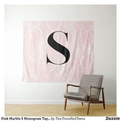 Pink Marble S Monogram Tapestry Marble Tapestry, S Monogram, Pink Marble, Christmas Card Holders, Bed Spreads, Vivid Colors, Hand Sewing, Picnic Blanket, Prints