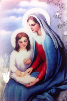 Our Blessed Mother with St. Anne.