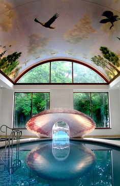 Half Indoor/Half Outdoor Shell Pool, Philadelphia, Pennslyvania