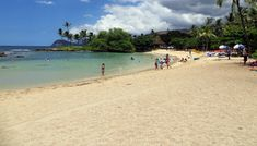 Lanikuhonua Beach in Ko Olina Resort on west shore Oahu.