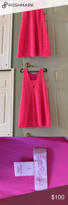 Lilly Pulitzer lace dress Pink Lilly Pulitzer pink lace shift dress. I accept offers!! Lilly Pulitzer Dresses