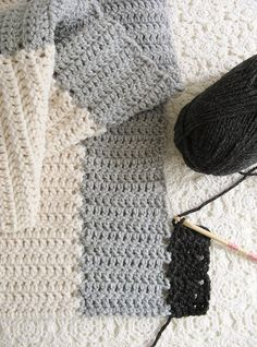 How to join strips as you go - The tutorial is actually to crochet a wrap