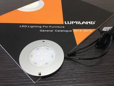 LED Ultra-thin Cabinet Light (Surface Mounted). Material: PMMA / Aluminium;                                                                                                                                                                                   Size: ф80*H4mm