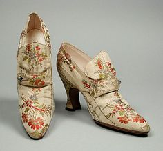 French Shoes - c. 1918 - LACMA - @Mlle
