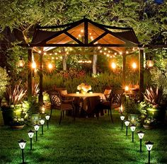 Lighting to enhance outdoor spaces.