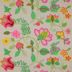 Cette année, la collection de soie, lin et coton est d'inspiration indienne, comme le montre cette broderie reprenant des motifs du Rajasthan.. Manuel Canovas, 6, rue Abbaye, 75006 Paris, tél. : 01 43 29 91 36. www.manuelcanovas.com En savoir plus sur http://www.admagazine.fr/decoration/diaporama/o-trouver-les-plus-beaux-tissus-brods-de-fleurs/4740#GqFZgbhiGMJHSbZ4.99
