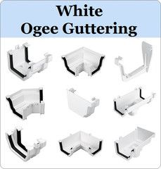 Virtual Plastics Ltd. White Ogee Gutter range from £2.39