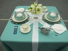 Flower Show (Tablescape Theme..Breakfast at Tiffany's)