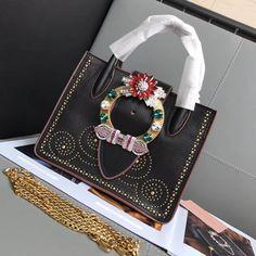 7a0eb1a631e Miu Miu Studded Top Handle Bag 100% Authentic 80% Off
