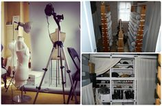 Day 1 Theme was #secretsMW - the upper floors of our houses are closed to the public, more 'secretive' areas.  They are used for storage or, in the case of Henry House, we have a digitization studio on the upper floor with our textile collection!