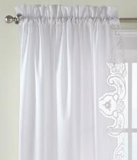 Melanie Bordered Lace Rod Pocket Curtains - Pair_225320