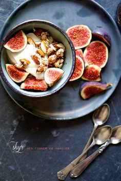 Icelandic Skyr Yogurt with Figs and Nuts