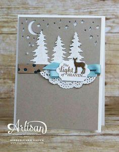 Süße Weihnachtskarte basteln und stempeln mit Stampinup Stempelset Wie ein Weihnachtslied 2017