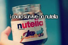 I could totally survive on nutella :) Tell My Story, Story Of My Life, Just Me, Told You So, Personality Quotes, Quotes That Describe Me, Just Girly Things, Girly Stuff, Random Stuff