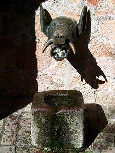 Unique fountain in Marburg, Germany
