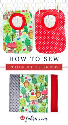This will be your new go-to bib. Easy to put on, tough for your toddler to pull off and great coverage for all those super messy toddler meals. Choose a fun print and learn how it's done with this easy to follow Pullover Toddler Bib Tutorial.
